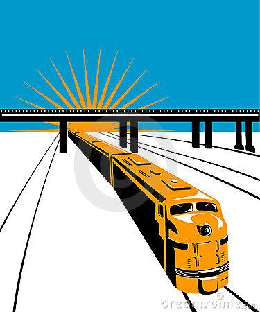 Railroad Bridge Stock Illustrations.