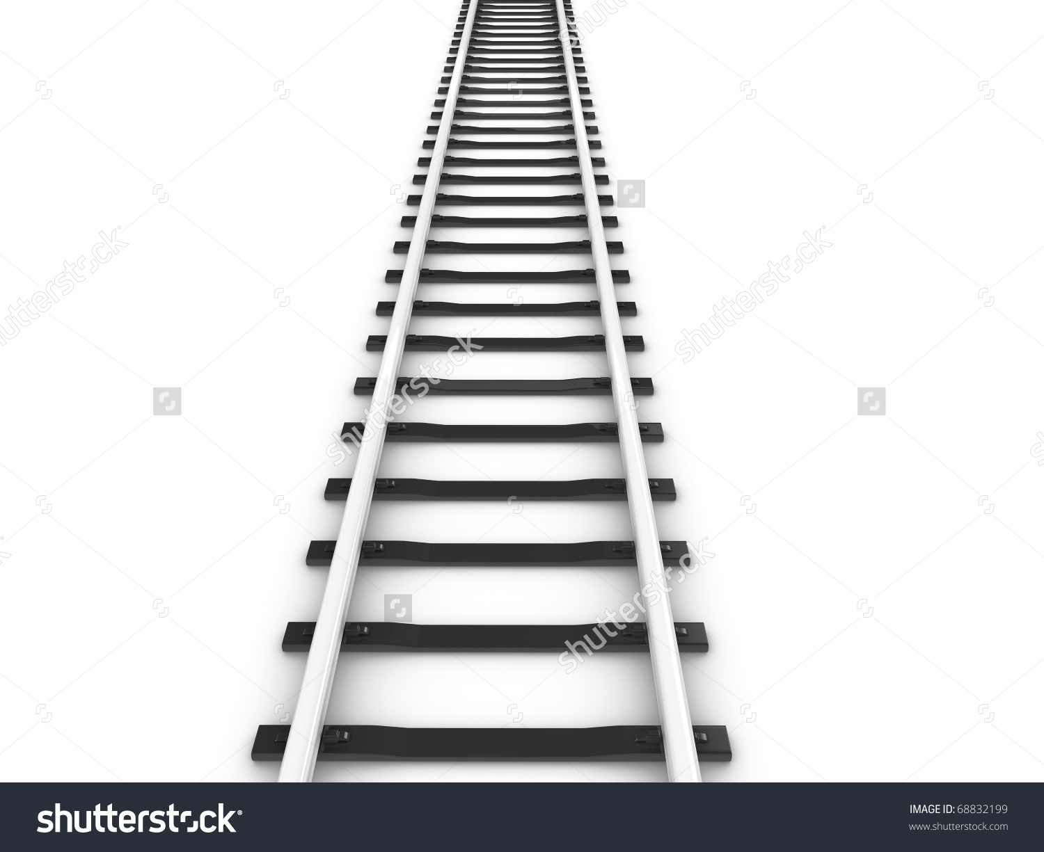 3d Rendering Railway Track Isolated On Stock Illustration 68832199.