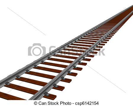 Stock Photo of Train track.