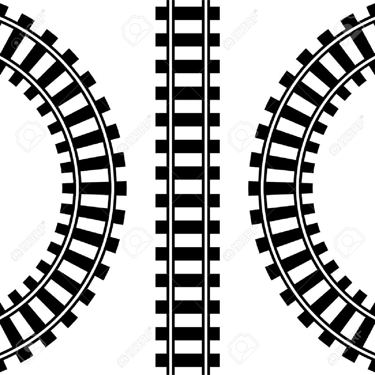 Train Tracks Royalty Free Cliparts, Vectors, And Stock.