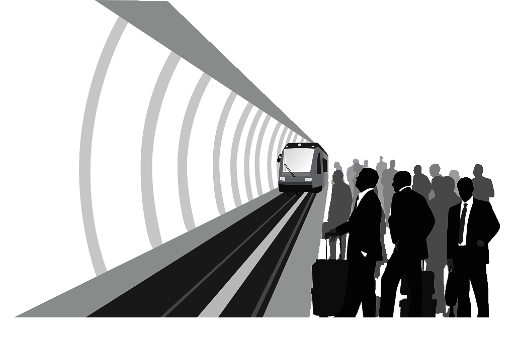 Train Rail transport Rapid transit Silhouette Illustration.