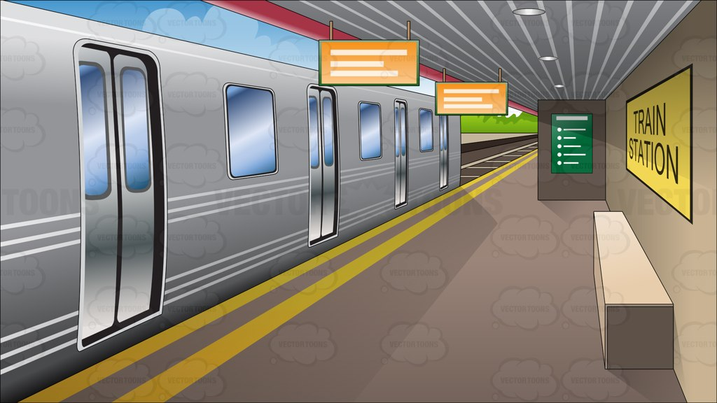 Train Station Platform Clipart.