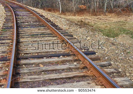Railway Sleepers Stock Images, Royalty.