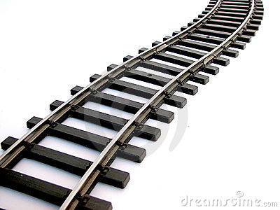 Rail Track Stock Photo.