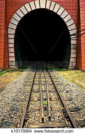 Stock Photo of Tunnel of the train with railway k10170504.