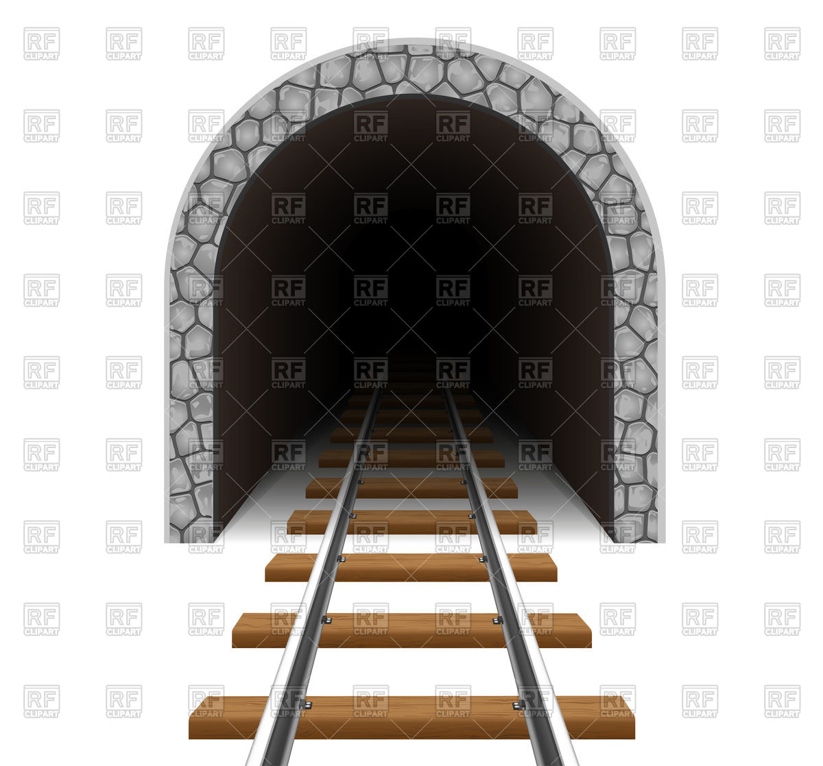 Empty railway tunnel Vector Image #105024.