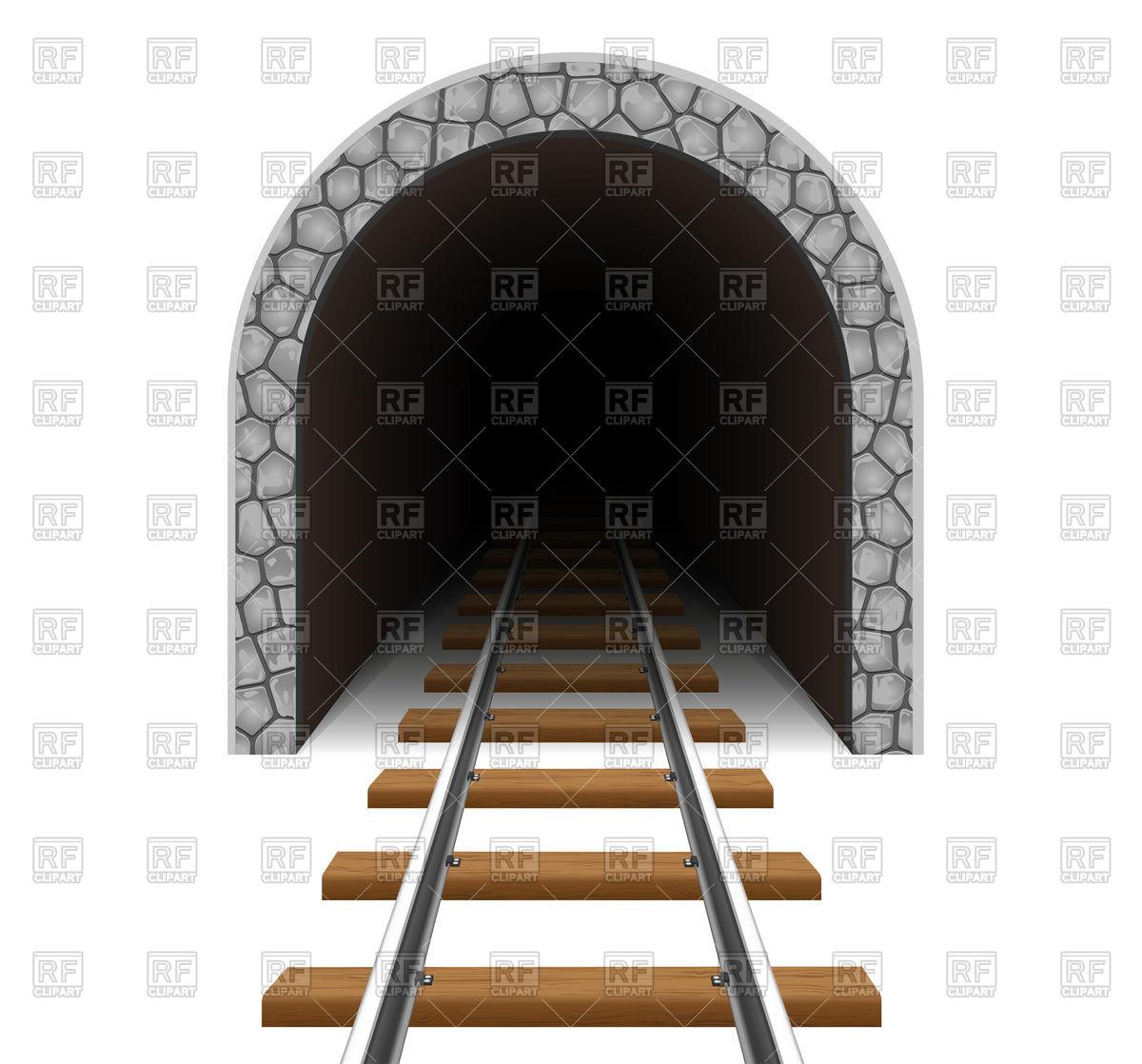 Empty railway tunnel Vector Image #105024.