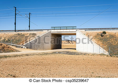 Stock Photo of Underpass in the Madrid.