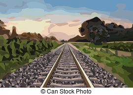 Clip Art of railway track.