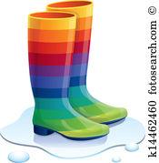 Rain boots Clip Art Royalty Free. 1,045 rain boots clipart vector.