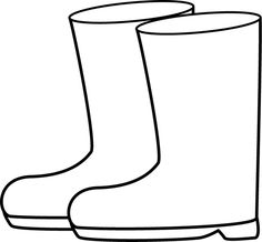 Duck Rain Boot Clipart.