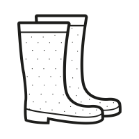Rain Boots Clipart Black And White (99+ images in Collection.