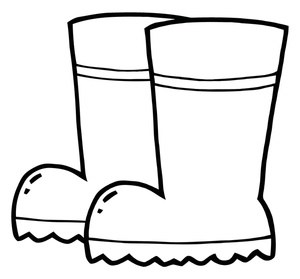 Rain boots clipart black and white » Clipart Portal.