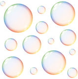 Rainbow Soap Bubbles Stock Photo.