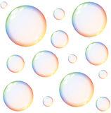 Rainbow Soap Bubbles Stock Photo.