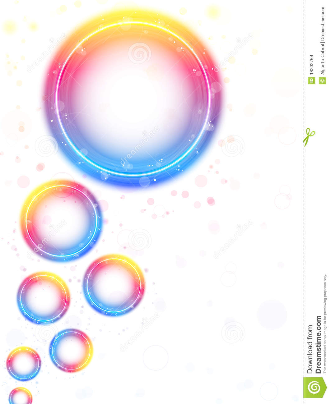 Rainbow Circle Bubbles Background Stock Images.
