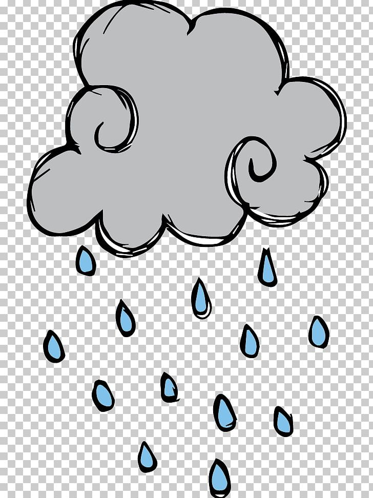 Rain Cartoon PNG, Clipart, Area, Artwork, Black And White.