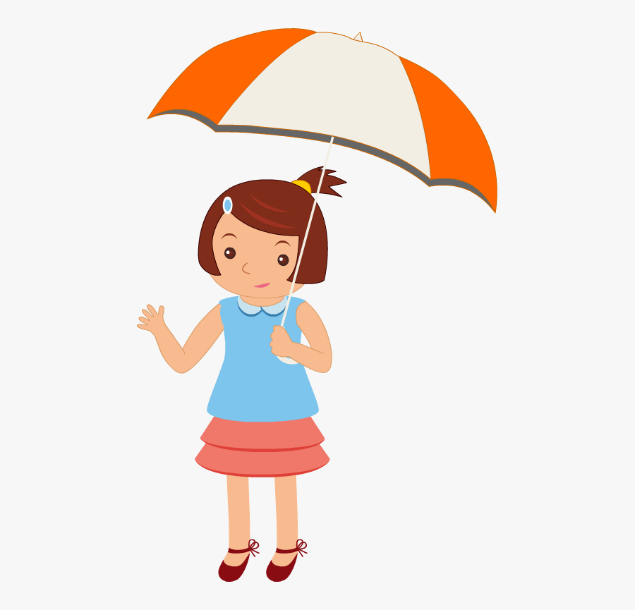 Kids With Rain Cartoon Png , Free Transparent Clipart.
