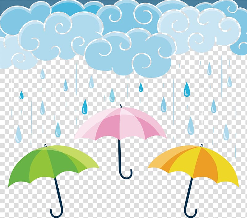 Umbrella banner illustraiton, Umbrella Graphic design Rain.