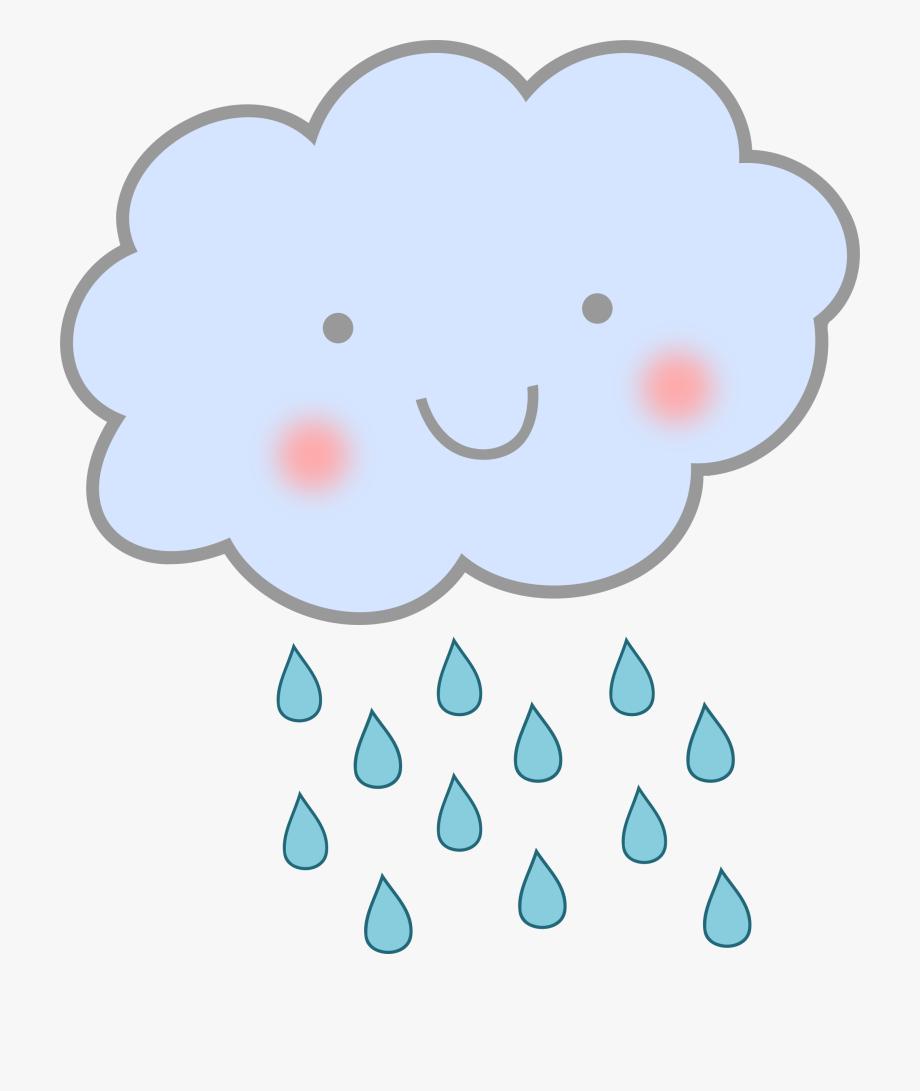Clipart Cute Rain Cloud.