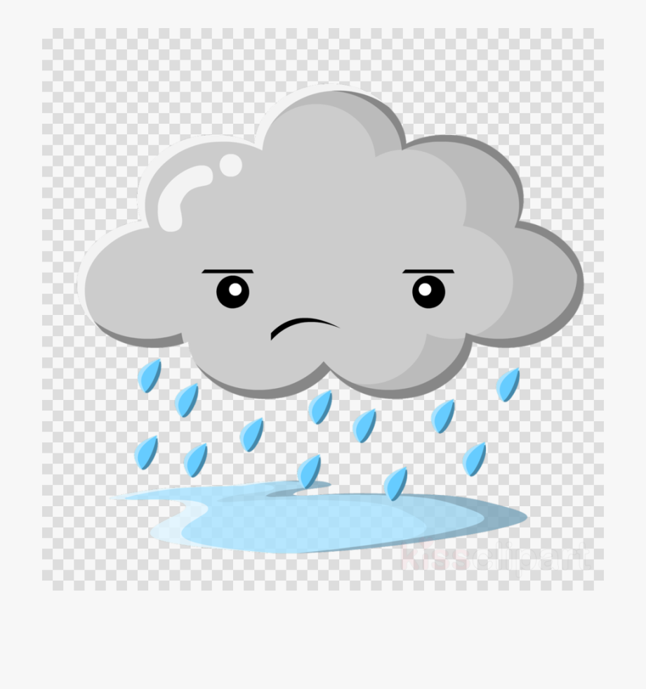 Rain Cloud Clipart Cartoon.