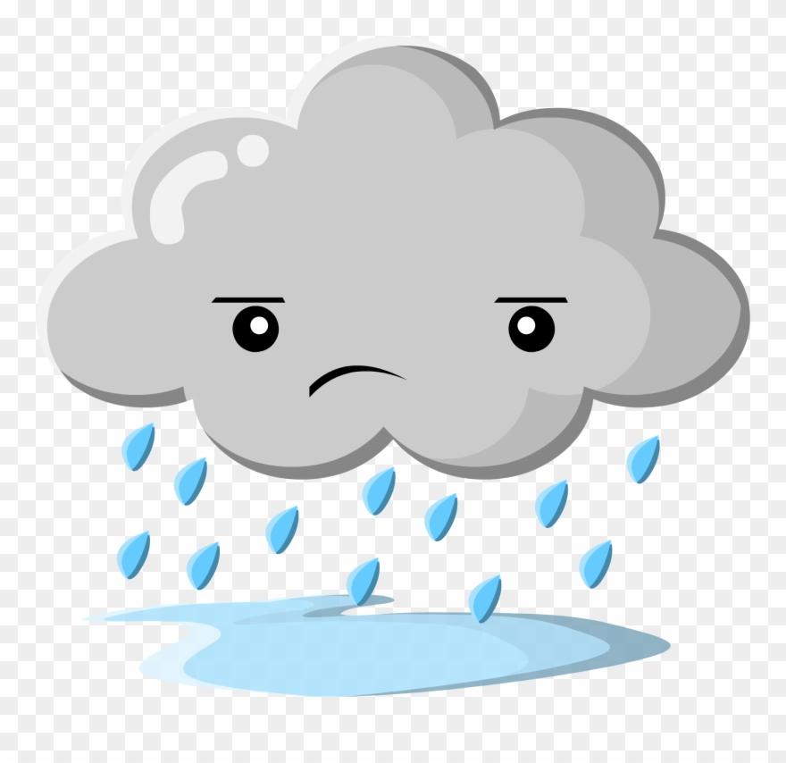 Sad Rain Cloud Png Clipart (#1403774).