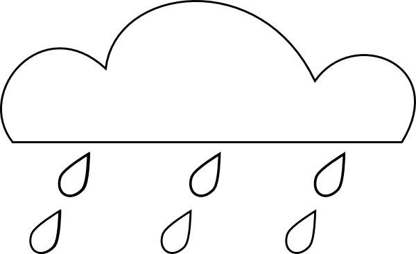 Rain Cloud Outline Clip Art at Clker.com.