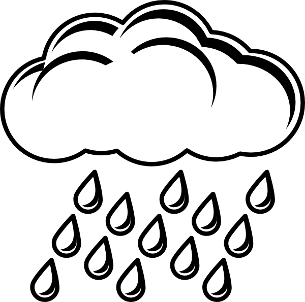 Cloud With Rain Outline Clip Art at Clker.com.
