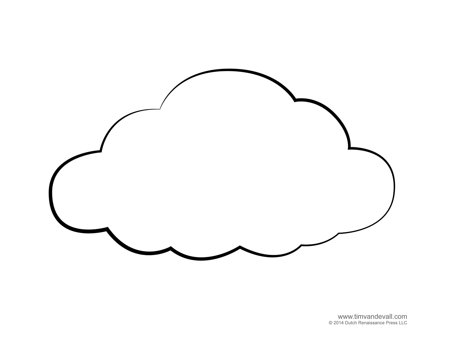 Cloud Outline With Rain Outline Clipart : Cloud Outline Outline.