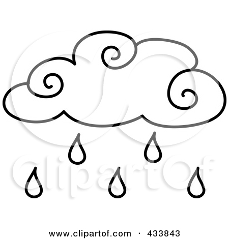 Rain Cloud Clipart Black And White.