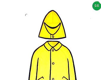 Yellow raincoat clipart.