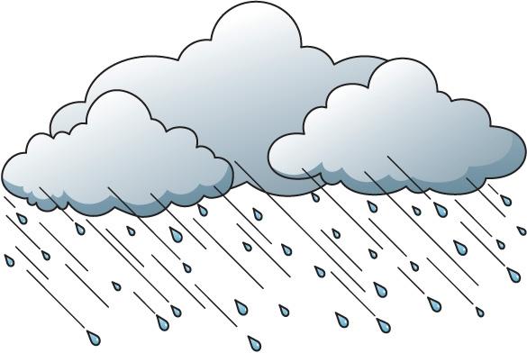Rain weather clipart.