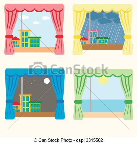 EPS Vector of Curtain of Rain.