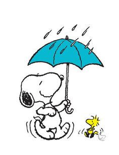 Free Of Snoopy In Rain Clipart.