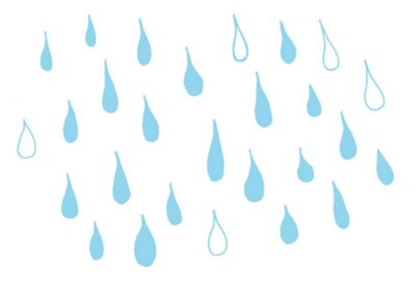Raindrops Animated Clipart.