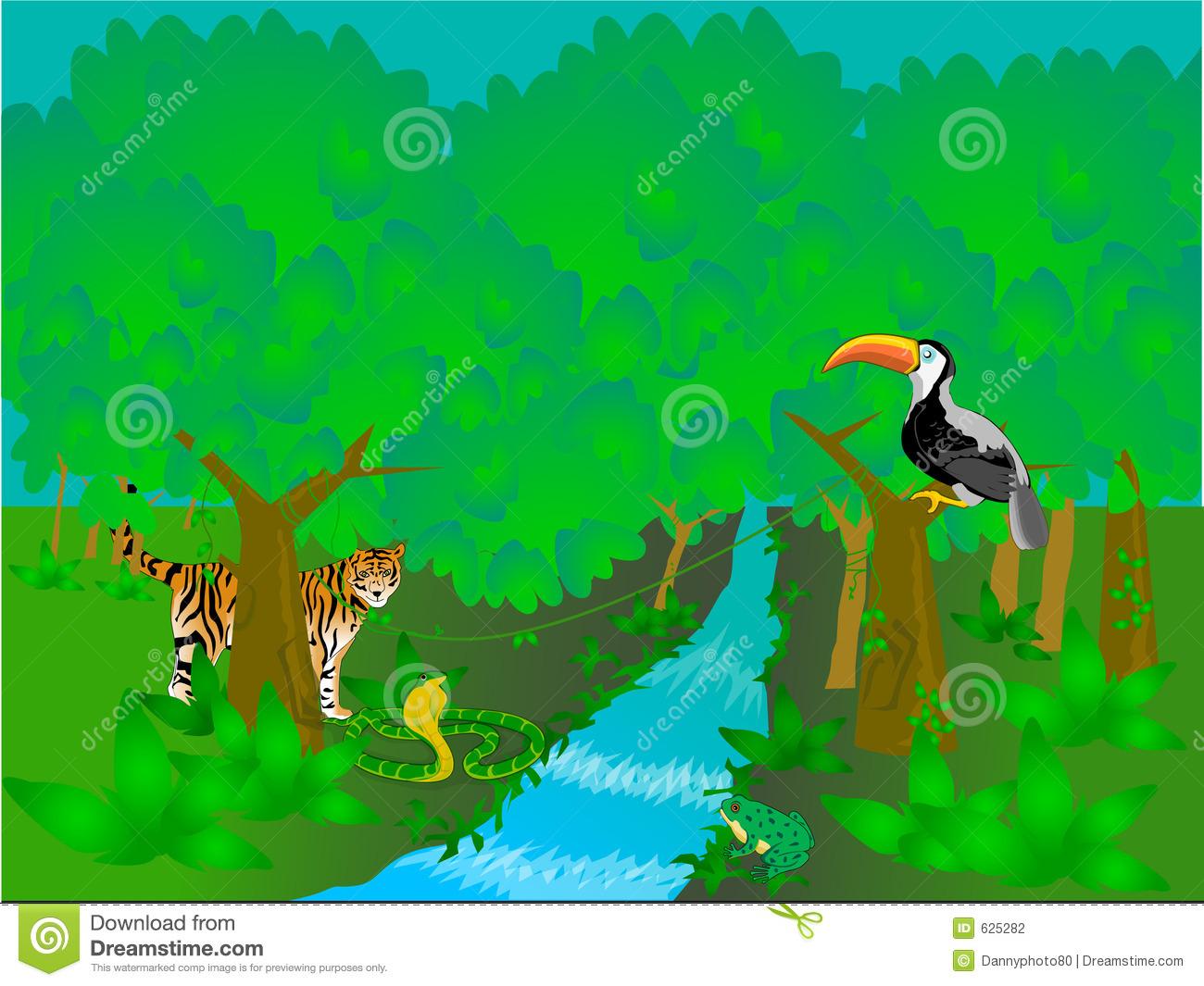 Rain forest clip art.