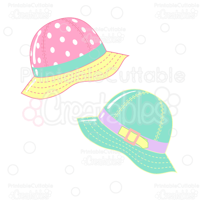 Rainy Day Rain Hats Clipart & SVG Cut Files.