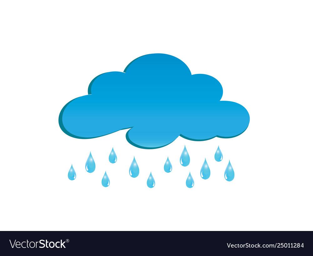 Rainy clouds for logo design drops rain symbol.