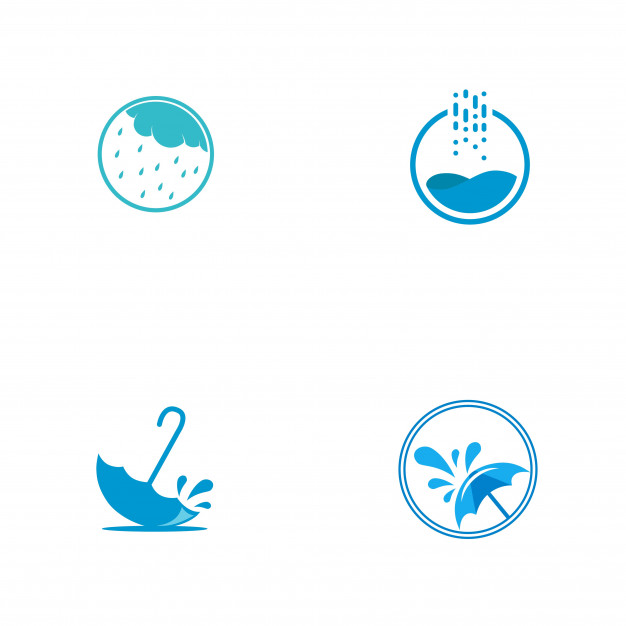 Rain logo Vector.