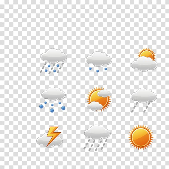 Weather forecasting Rain Logo, Weather icon transparent.