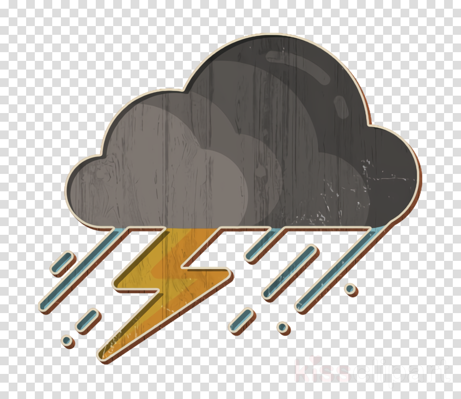 Rain icon Storm icon Weather icon clipart.