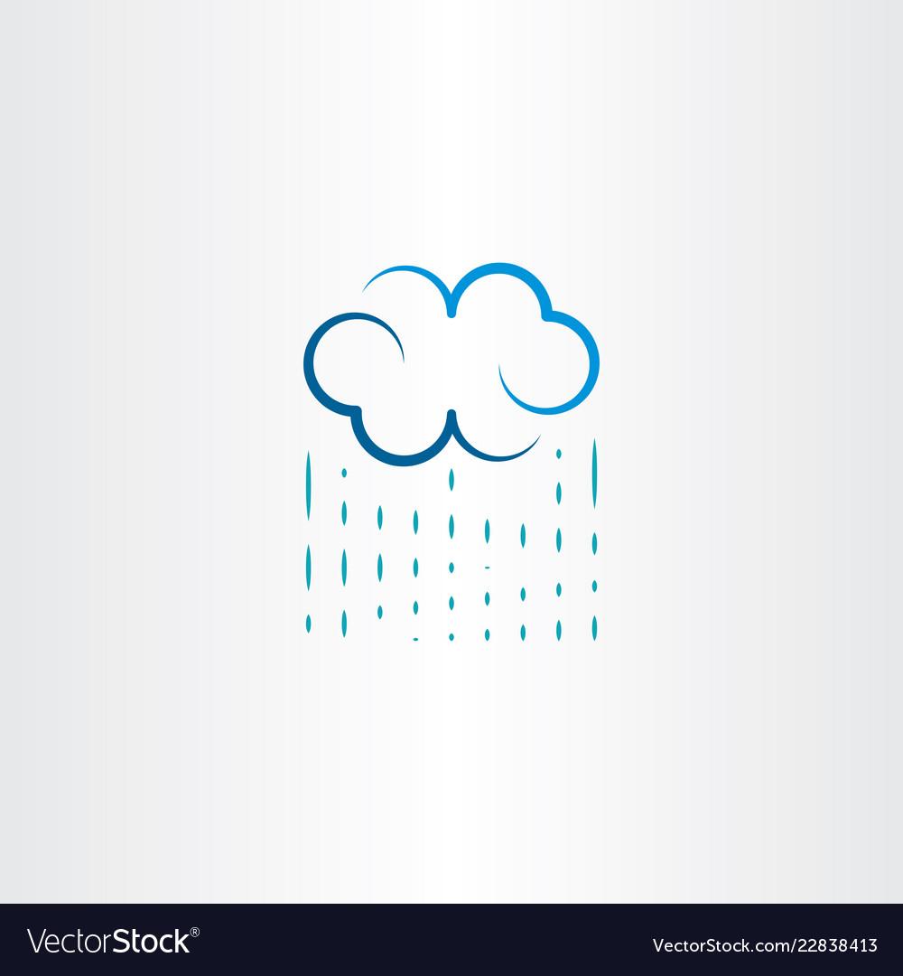 Rain and cloud logo icon symbol.