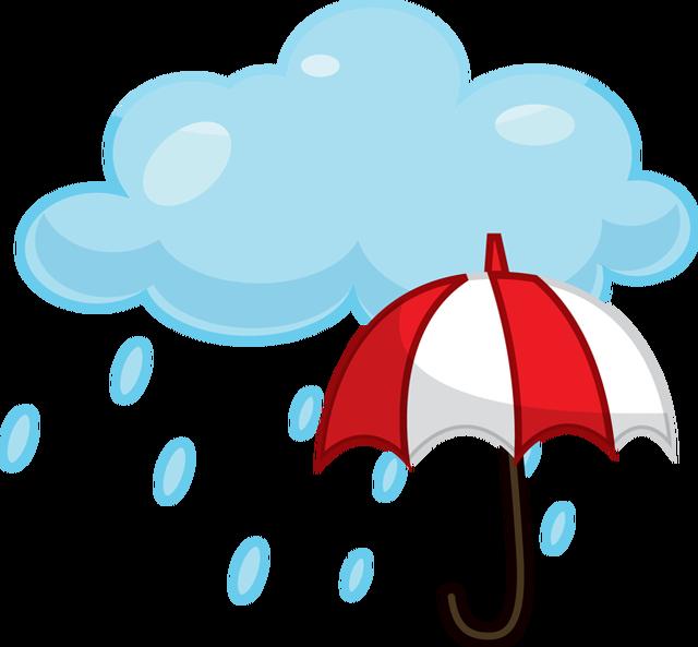 Rain Showers Clipart.