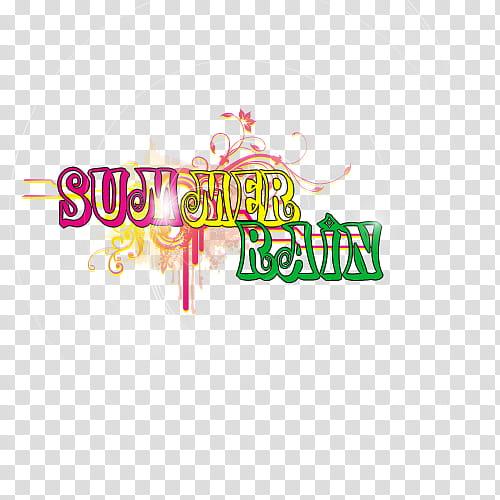 Summer rain text transparent background PNG clipart.