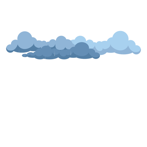 Dark rain clouds vector.