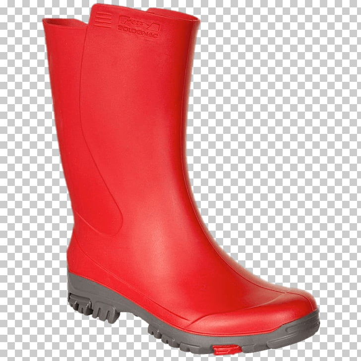 Wellies Red, red rainboot PNG clipart.