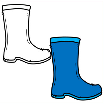 Colorful Rain Boot Clipart.