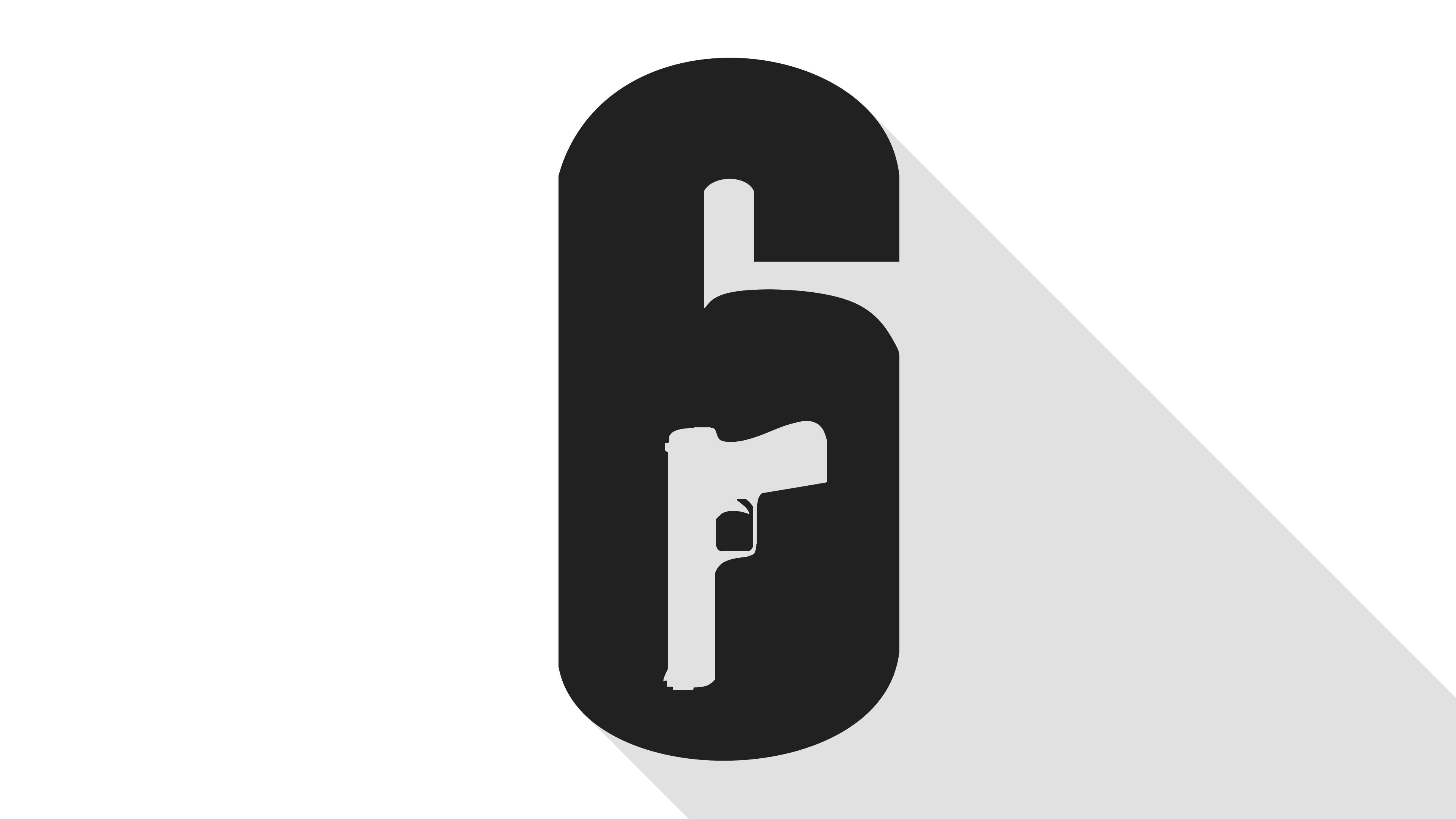 Minimal Logo Wallpaper : Rainbow6.