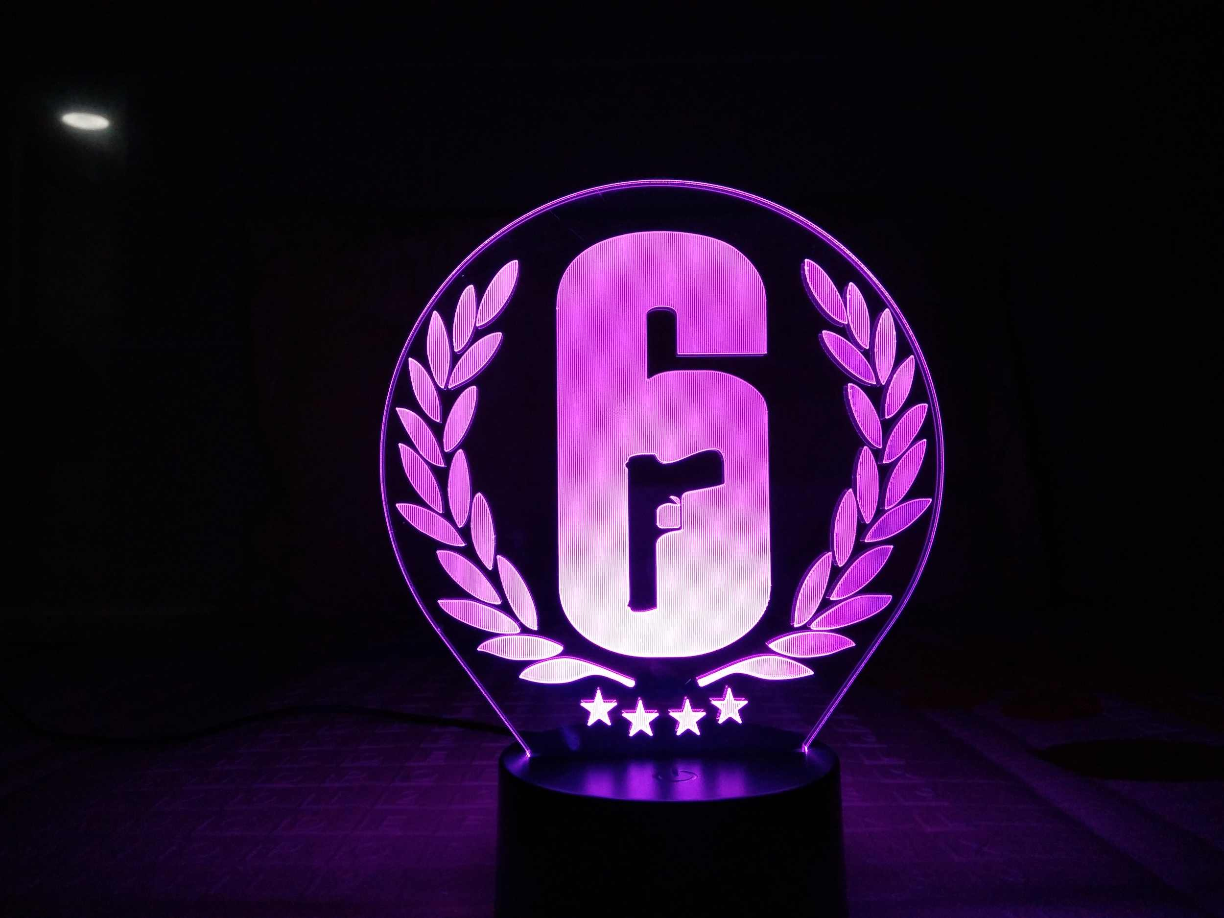 Rainbow Six Siege Night Light LED Touch Sensor 7 Color Changing Child Kids  Gift FPS Game Table Lamp Rainbow 6 Logo Bedroom Decor.
