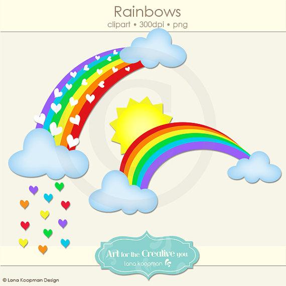 Rainbow Digital Clip Art by Lana Koopman Design, $5.00.